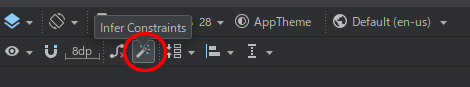 android studio ツールバー