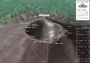 富士山「お鉢めぐり」マップ